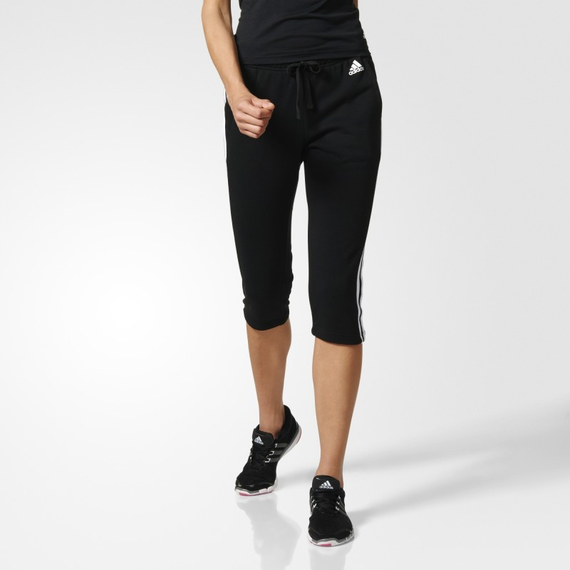 adidas Performance ESS 3S 3/4 PANT Dámské 3/4 kalhoty US 2XS S97105